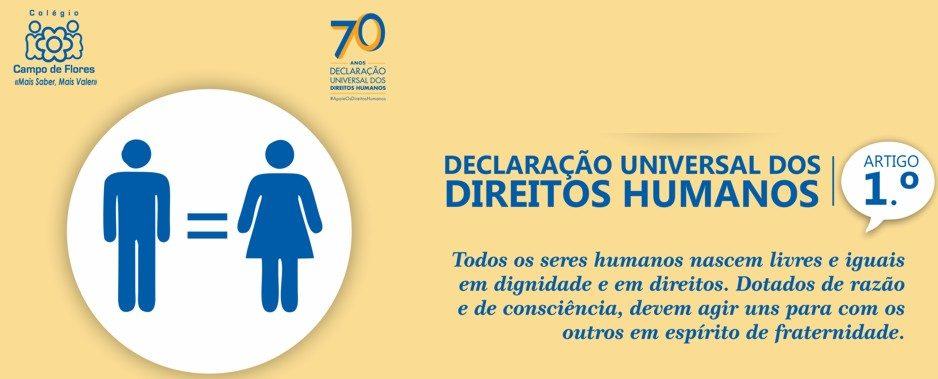 Comemoram-se os 70 anos da Declaração Universal dos Direitos Humanos
