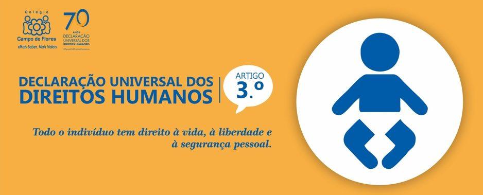 3º Artigo da Declaração Universal dos Direitos Humanos