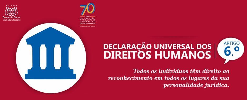 6º Artigo da Declaração Universal dos Direitos Humanos