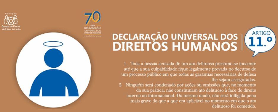11º Artigo da Declaração Universal dos Direitos Humanos