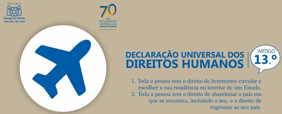 13º Artigo da Declaração Universal dos Direitos Humanos