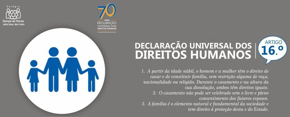 16º Artigo da Declaração Universal dos Direitos Humanos
