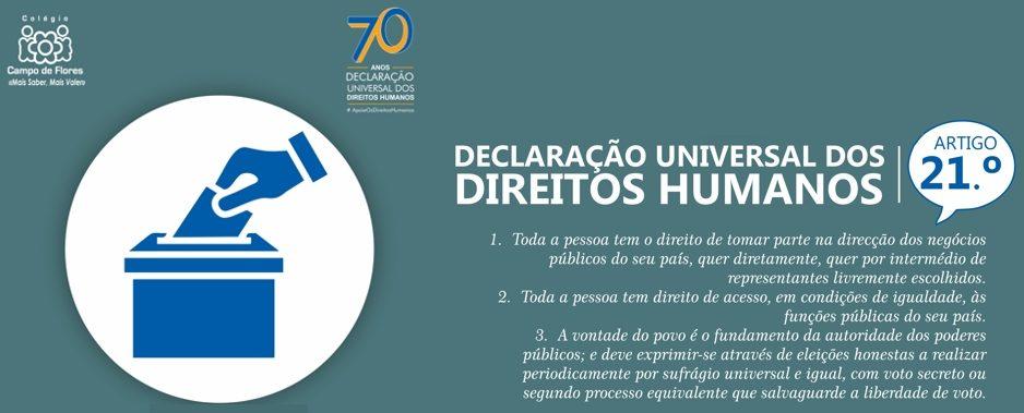 21º Artigo da Declaração Universal dos Direitos Humanos