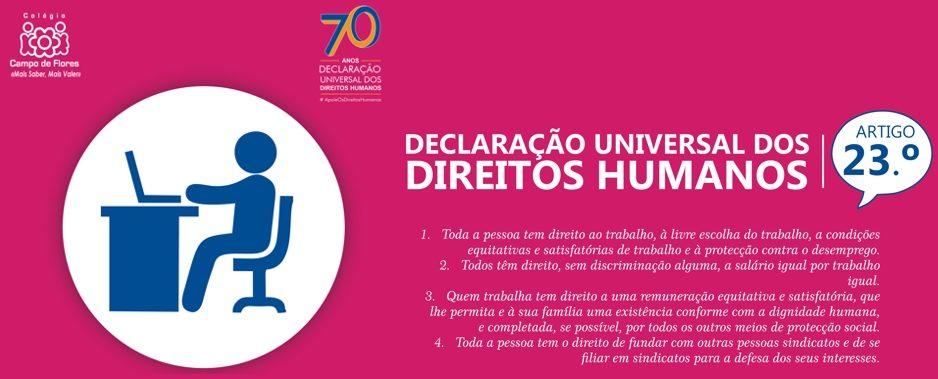 23º Artigo da Declaração Universal dos Direitos Humanos