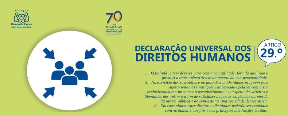 29º Artigo da Declaração Universal dos Direitos Humanos