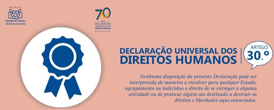 30º Artigo da Declaração Universal dos Direitos Humanos